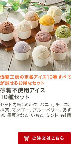 砂糖不使用アイス10種セット
