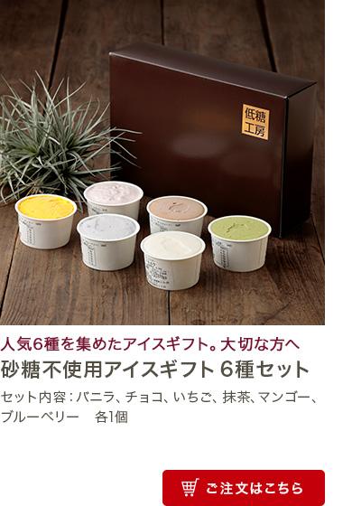 砂糖不使用アイスギフト6種セット