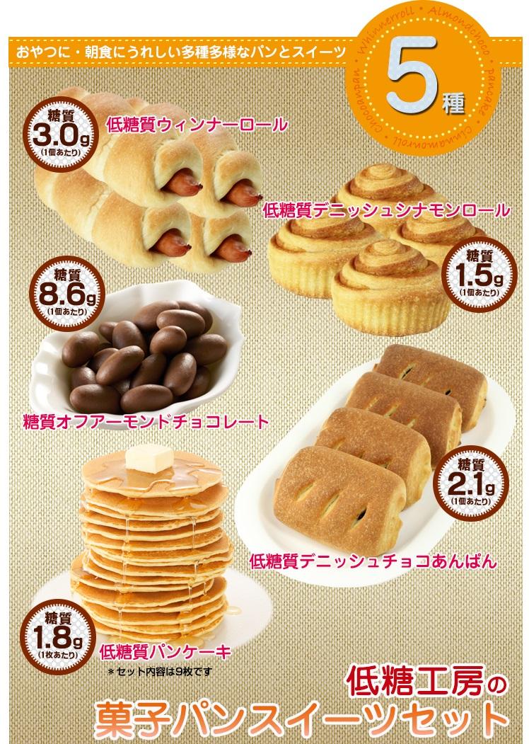低糖工房の菓子パンスイーツセット