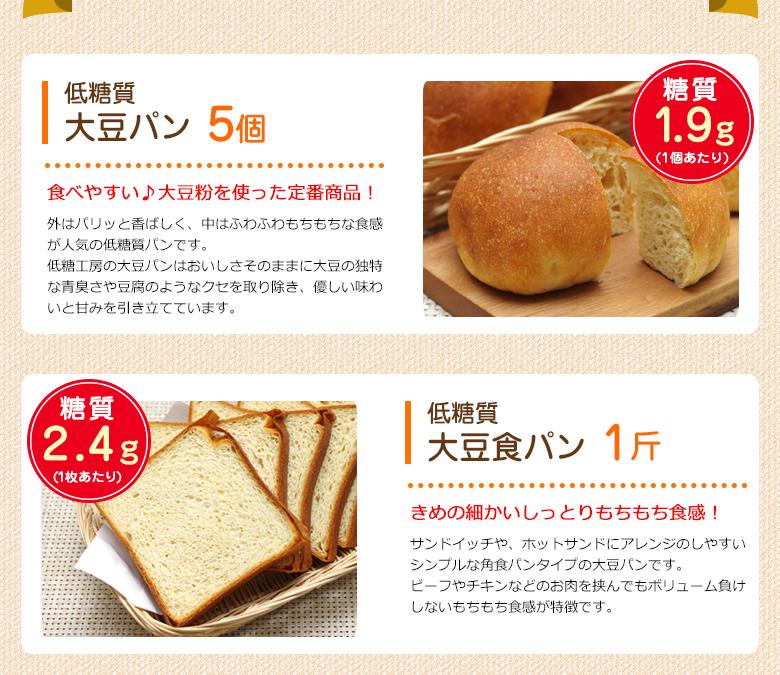 低糖質大豆パン・大豆食パン
